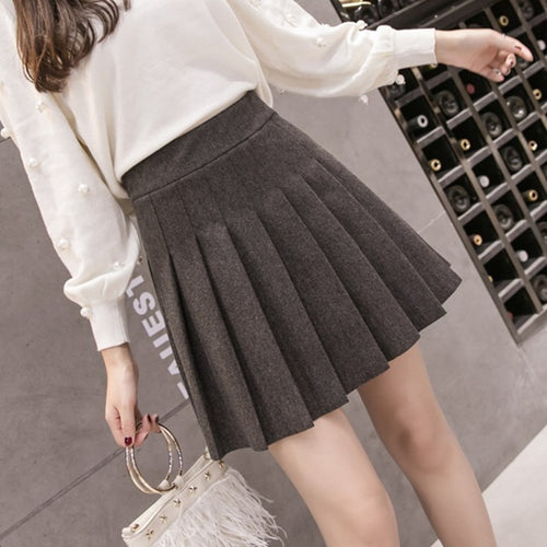 Womens Streetwear Black High Waist Harajuku Clothing Fashion Skirt