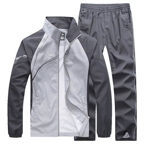 New Men's Set Spring AutMen Sportsweaumn 2 Piece Set Sporting Suit