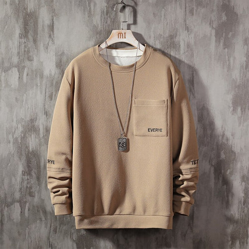 Fashion Letter Patchwork Loose Long Sleeve Male Clothing
