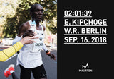 Eliud Kipchoge sets the world record using Maurten products.