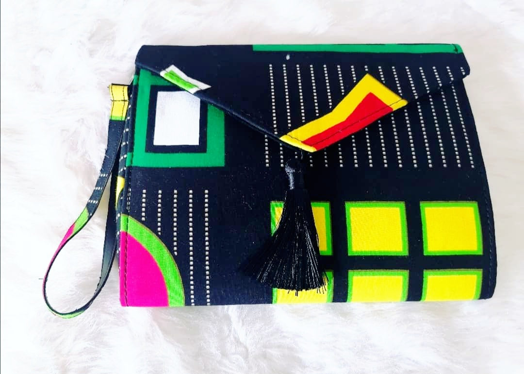 African print-Sassy Chic clutch Bag