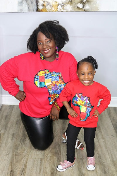 Unisex Kids Map sweatshirts