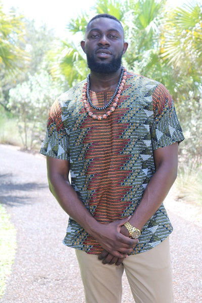 Men's African Print short sleeves