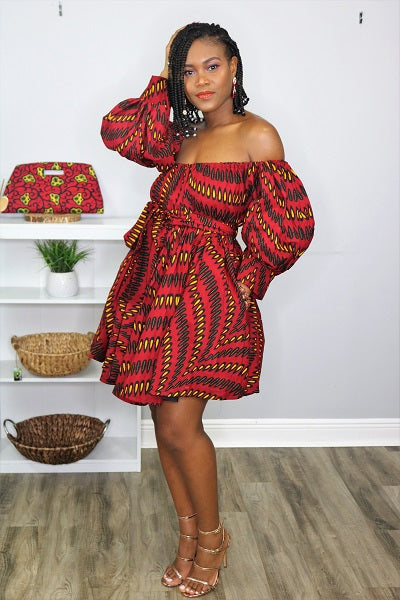 Chichi-African Print Dress