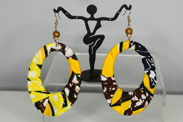 Ankara Jewelry- Circle Loop Earrings