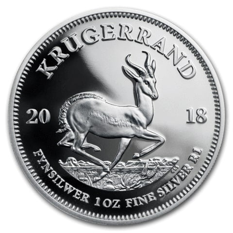 2018 South Africa 1 oz Proof Silver Krugerrand Coin - Cheeky Mongoose