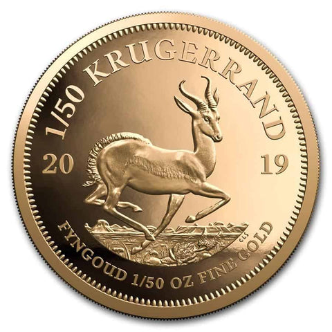 2019 South Africa 1/50 oz Gold Krugerrand - Cheeky Mongoose