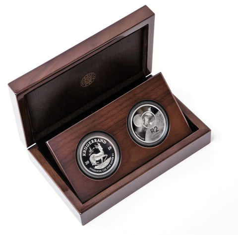 Buy the Lunar Silver coin 2019 Krugerrand Crown and Tickey set from Cheeky Mongoose