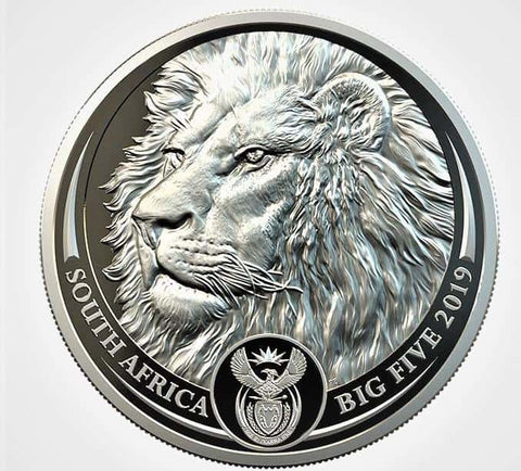 2019 South Africa 1 oz Platinum Big Five Lion Proof Coin - Cheeky Mongoose