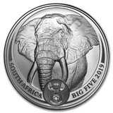 2019 South Africa 1 oz Silver Big Five Elephant BU - Cheeky Mongoose
