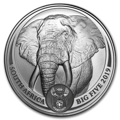 2019 1 oz Silver Big Five Elephant BU Coin