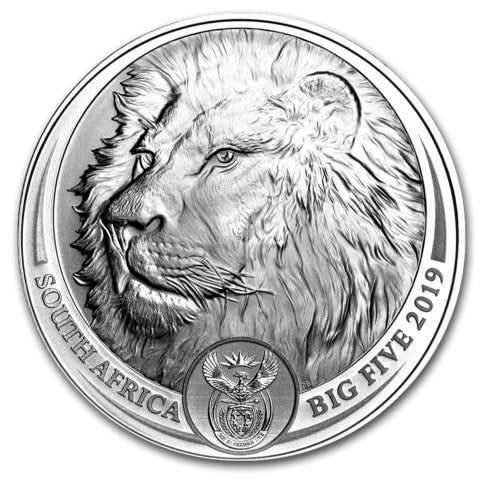 2019 South Africa 1 oz Silver Lion Big Five from Cheeky Mongoose