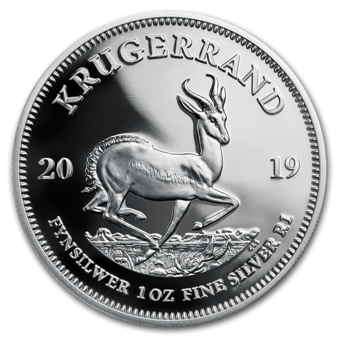 2019 South Africa 1 oz Silver Krugerrand Proof, Krugerrands