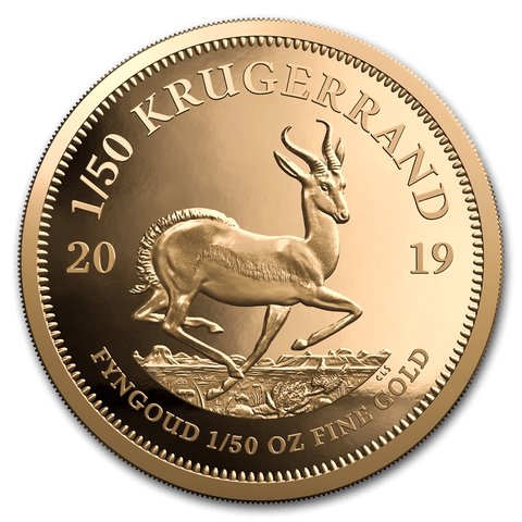 2019 South Africa 1/50 oz Proof Gold Krugerrand - Cheeky Mongoose
