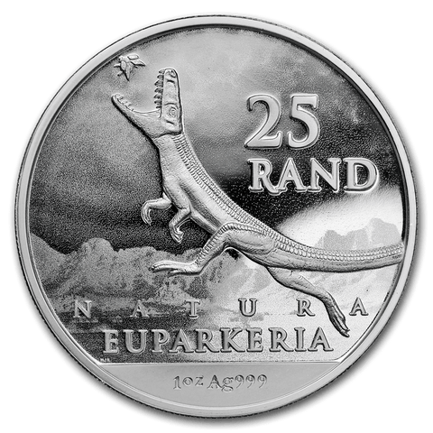 2019 South Africa Silver Natura Dinosaur: Euparkeria BU, Natura Rise of the Dinosaur