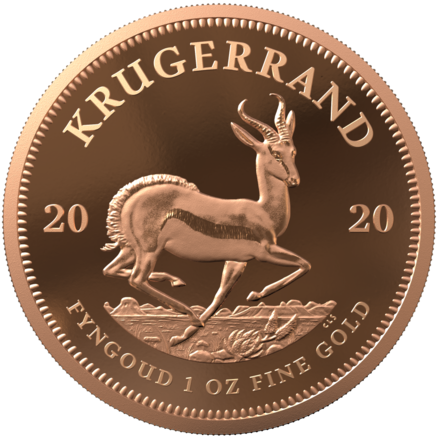 2020 South Africa 1 oz Proof Gold Krugerrand