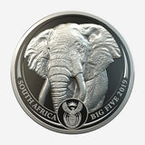 Big 5 Elephant Platinum Proof coin 1oz Pt 999.5 - Cheeky Mongoose