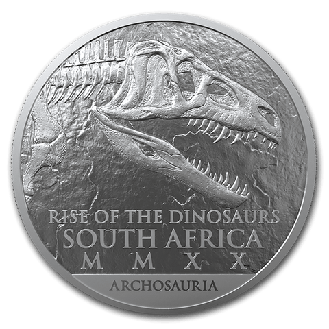 Buy the 1 oz Silver rise of the Dinosaurs R25 coin - Cheeky Mongoose