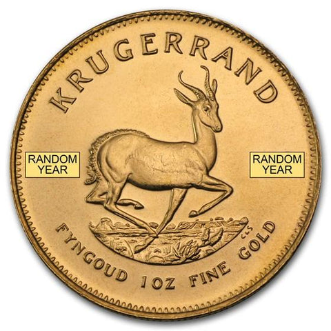 Buy the 1/10 oz Gold Krugerrand South Africa from Cheeky Mongoose