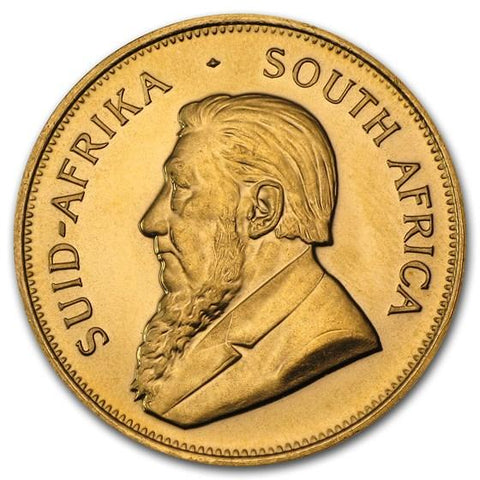 Obvers 1/2 oz Gold Krugerrand