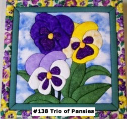 138 Trio of Pansies