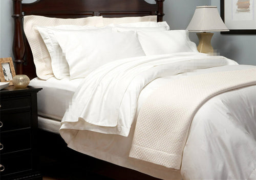 Luxury bedding 5 stars hotel 1800 TC bedding set 100% Egyptian Cotton 4 pcs set Spain Queen size  white Ivory colors customize