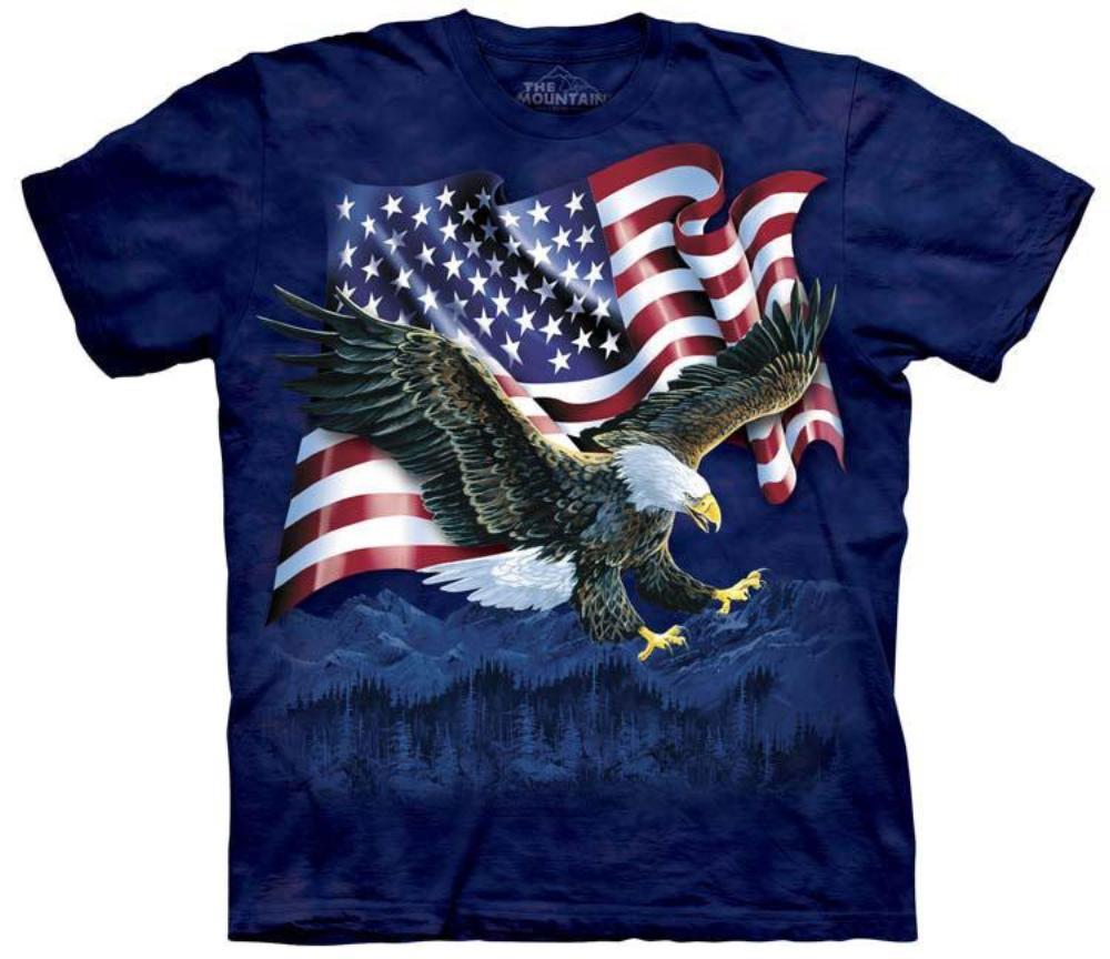 Eagle T-Shirt | Eagle Talon Flag Adult-Gifts from DePanda