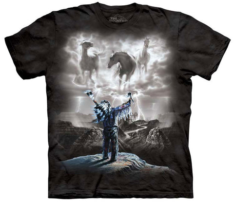 Indian T-Shirt | Summoning the Storm Adult-Gifts from DePanda