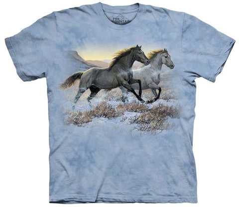 Horse T-Shirt | Running Free Adult-Gifts from DePanda