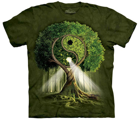 Celtic T-Shirt | Yin Yang Tree Adult-Gifts from DePanda