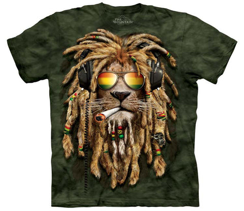 Lion T-Shirt | Smokin Jahman Adult-Gifts from DePanda