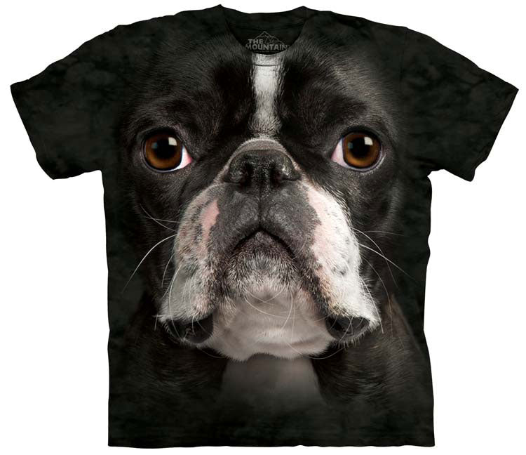 Dog T-Shirt | Boston Terrier Face Adult-Gifts from DePanda