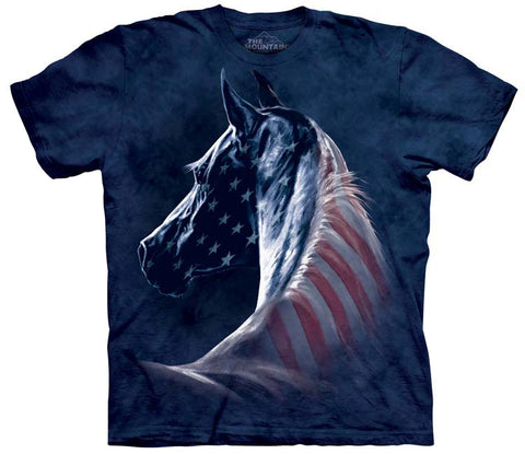 Horse T-Shirt | Patriotic Horse Adult-Gifts from DePanda