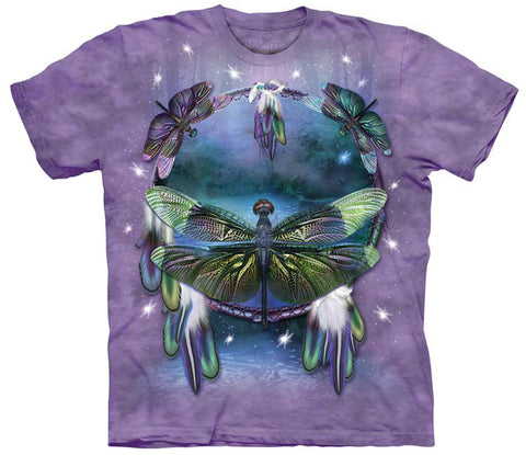 Dragonfly T-Shirt | Dragonfly Dreamcatcher Adult-Gifts from DePanda