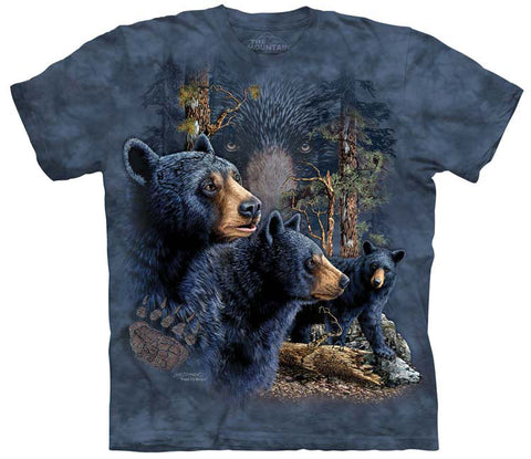 Bear T-Shirt | Find 13 Black Bears Adult-Gifts from DePanda
