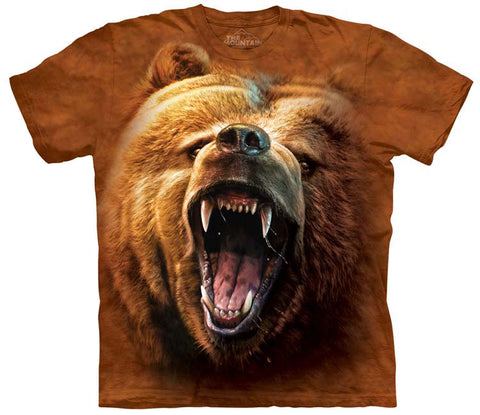 Bear T-Shirt | Grizzly Growl Adult-Gifts from DePanda