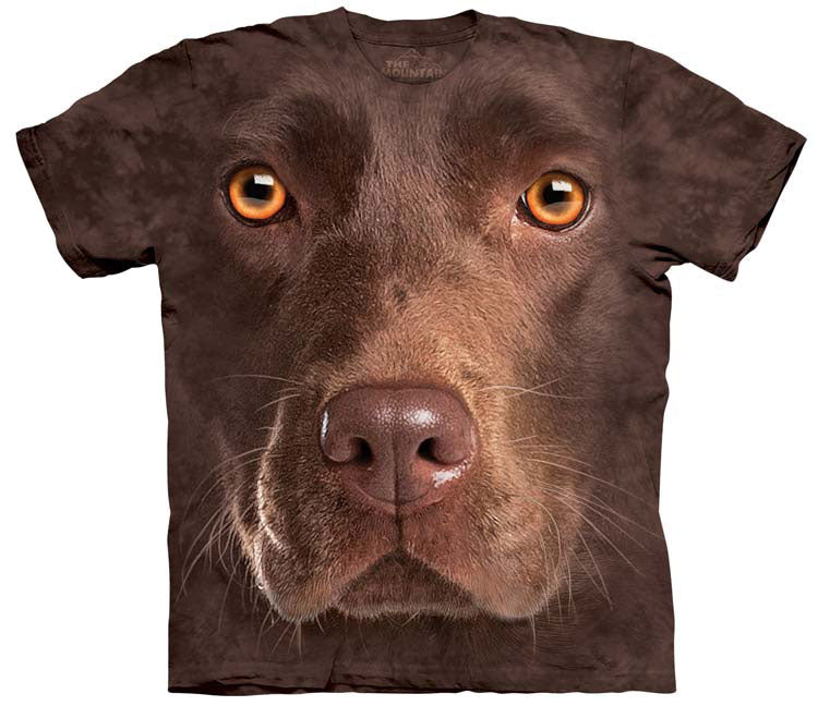 Dog T-Shirt | Chocolate Lab Face Adult