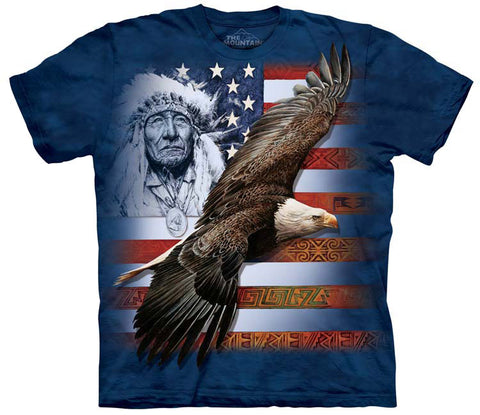 Eagle T-Shirt | Spirit of America Adult-Gifts from DePanda
