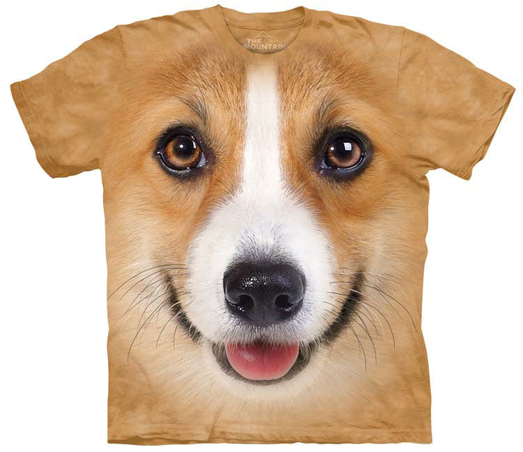 Dog T-Shirt | Corgi Face Adult
