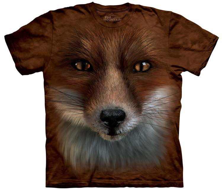 Fox T-Shirt | Big Face Fox Adult