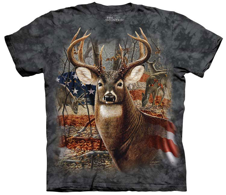 Deer T-Shirt | Patriotic Buck Adult
