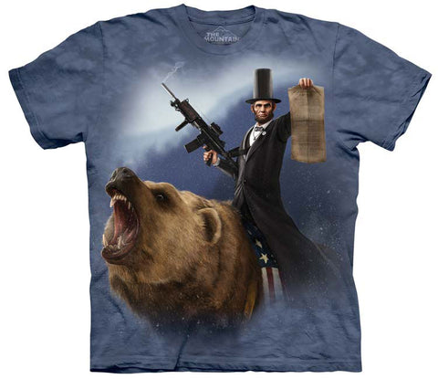 Mountain T-Shirt | Lincoln the Emancipator Adult-Gifts from DePanda