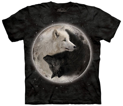 Wolf T-Shirt | Yin Yang Wolves Adult-Gifts from DePanda