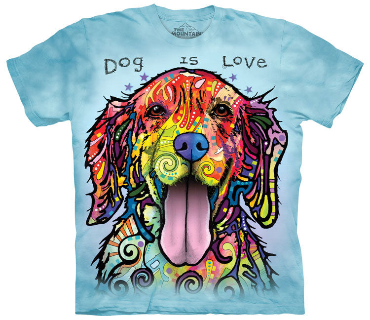 Dog T-Shirt | Dog Is Love Adult-Gifts from DePanda