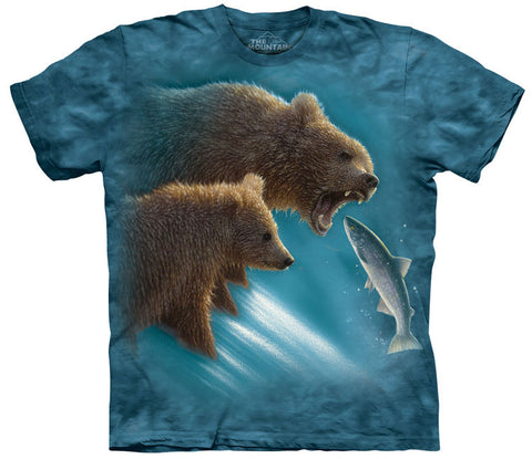 Bear T-Shirt | Fishing Lesson Adult-Gifts from DePanda