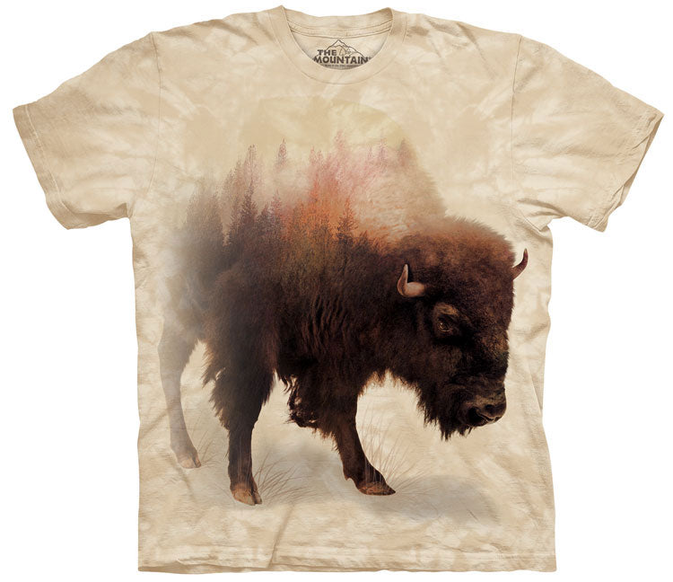 Buffalo T-Shirt | Bison Forest Adult-Gifts from DePanda
