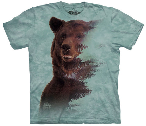 Bear T-Shirt | Brown Bear Forest Adult-Gifts from DePanda