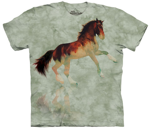 Horse T-Shirt | Forest Stallion Adult-Gifts from DePanda