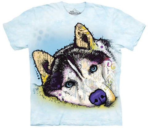 Dog T-Shirt | Russo Siberian Husky Adult-Gifts from DePanda