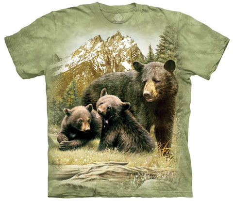 Bear T-Shirt | Black Bear Family Adult-Gifts from DePanda
